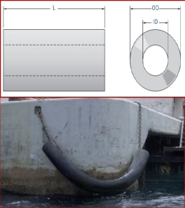 Picture and Design of Cylindrical Rubber Fender